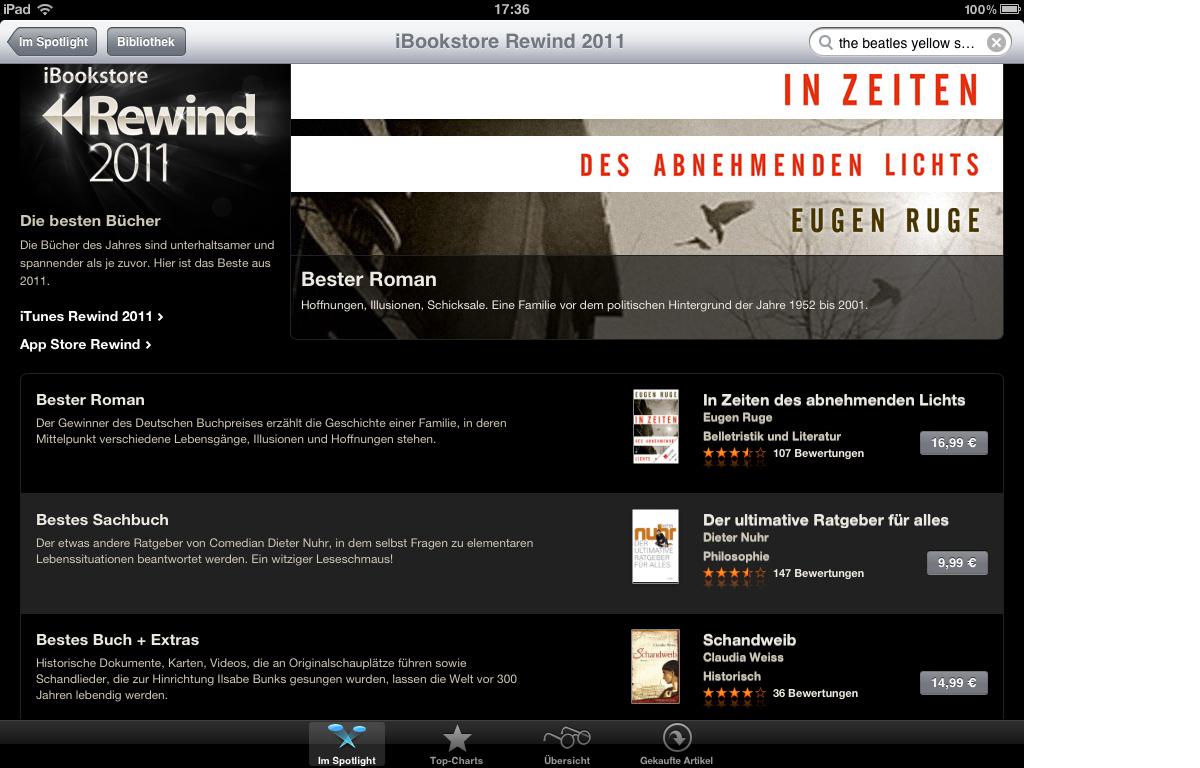 Schandweib bei iBooks Rewind 2011